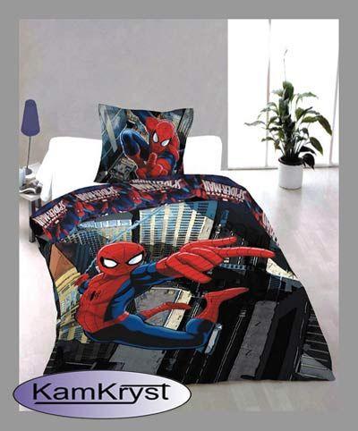 Bedding Spiderman 140x200 - Children's bedding cotton   Pościel Spider Man 140x200 - pościel dziecięca bawełniana #kids_bedding #spiderman_bedding #spider_man_sense