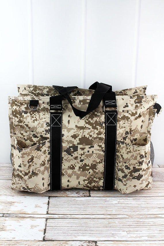 Digital Camo Monogrammed Diaper Bag