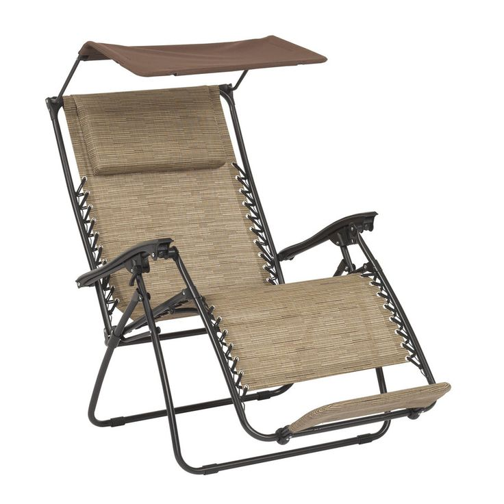 Garden treasures brown metal stationary zero gravity chair