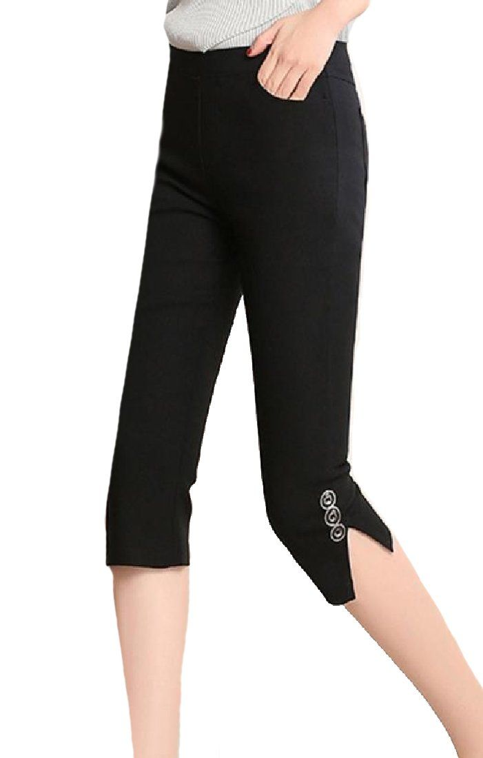 25d46cab3a0f8 Maternity Outfits - clingy maternity leggings : YUNY Women Solid Slimming  Pull On Below The Knee Leggings Pants Black S *** Continuously the item at  the ...