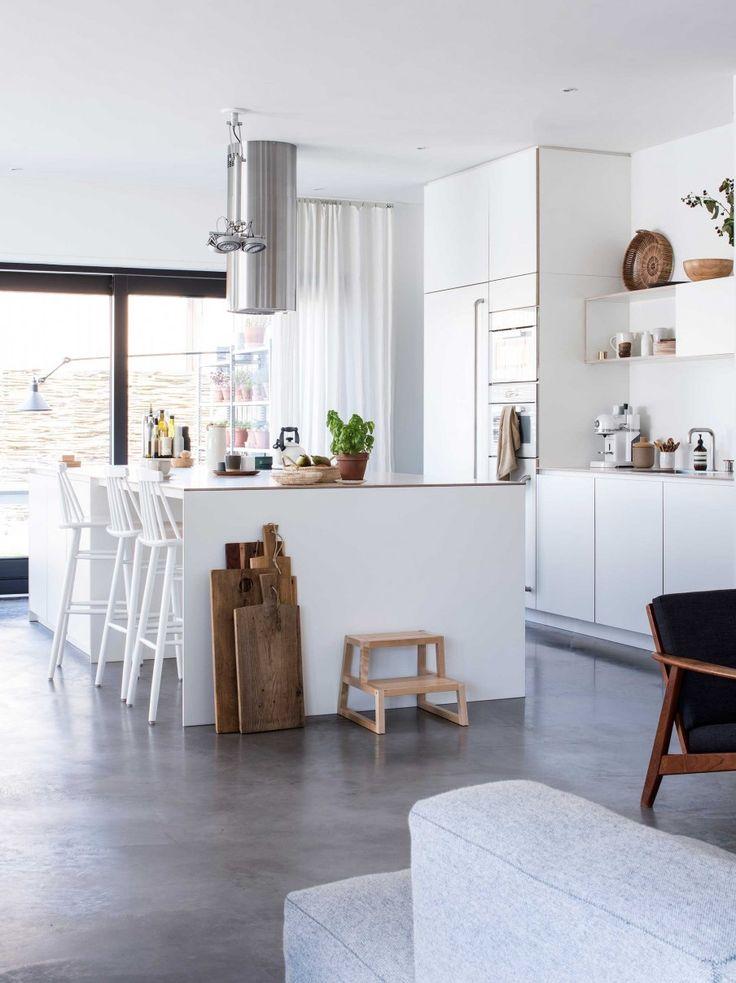 25 beste idee n over grijze keukens op pinterest - Kleur grijze leisteen ...