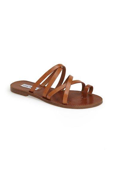 Steve Madden 'Antler' Strappy Leather Toe Loop Sandal (Women) | Nordstrom