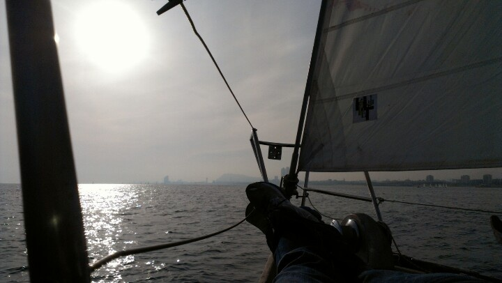 Relax on a sailboat