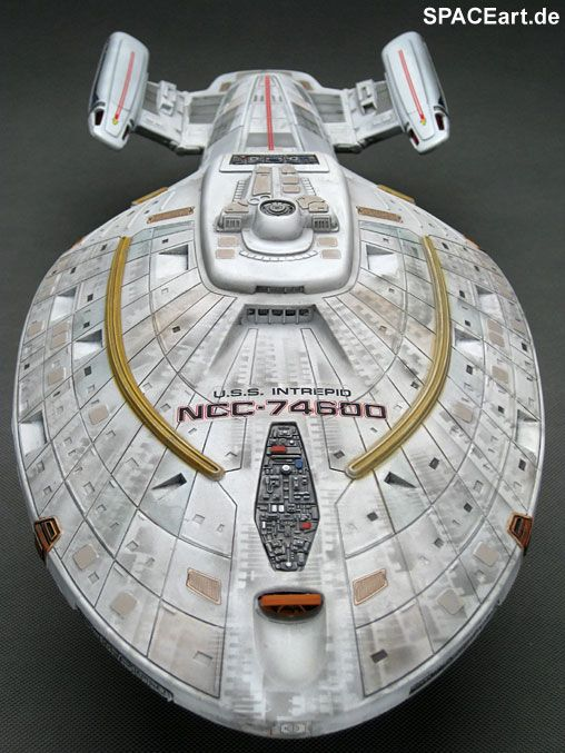 Star Trek: U.S.S. Intrepid NCC-74600, Fertig-Modell ... http://spaceart.de/produkte/spa014.php