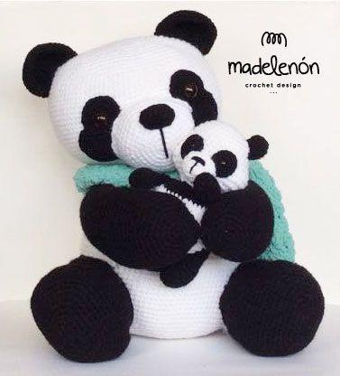 Ralph Panda and Baby - Amigurumipatterns.net