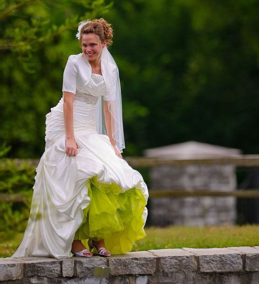 25 best ideas about lime green dresses on pinterest for Petticoat under wedding dress