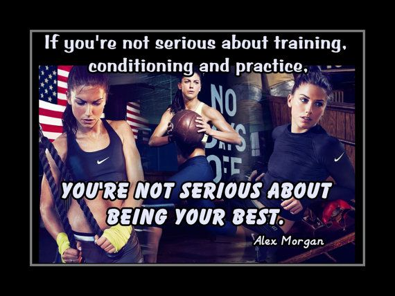 "Alex Morgan Soccer Champion Photo Quote Wall Art 5x7""- 8x11"" If You're Not Serious About Training Conditioning & Practice - Free USA Ship"