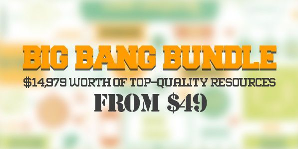The Big Bang Bundle: $14,979 worth of Top-Quality Resources – From $49 #bestdeal #graphicresources #designbundle