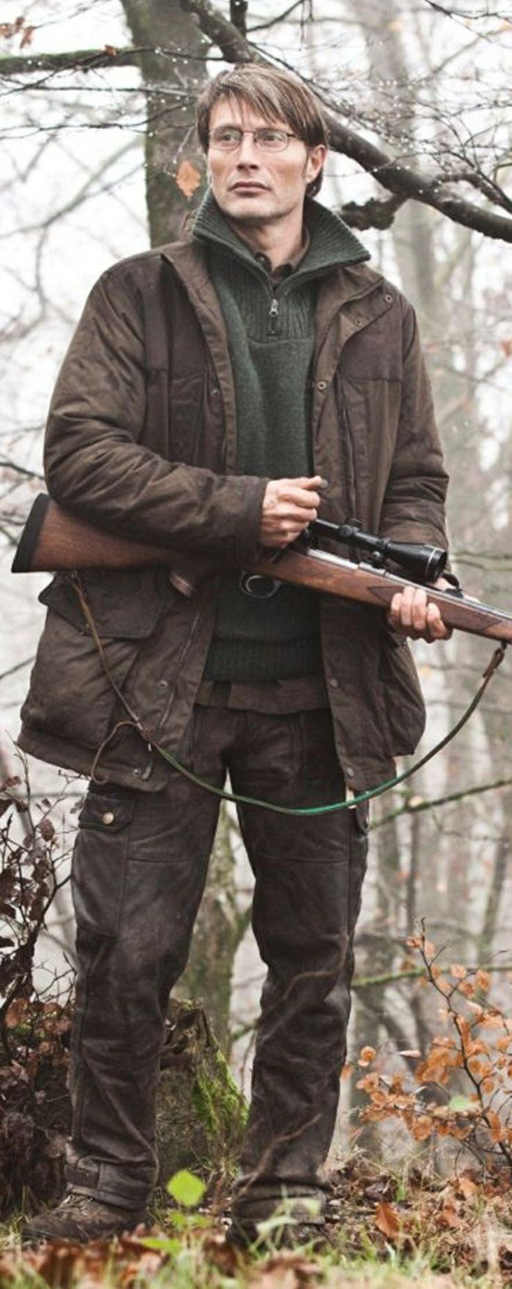 Mads Mikkelsen, The Hunt. Excellent movie.