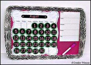 How to make a recycled cookie sheet perpetual calendar – Recycled Crafts
