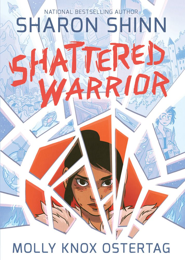 Graphic Novel Review [Blog Tour]: Shattered Warrior by Sharon Shinn and illustrated by Molly Knox Ostertag, May 16, 2017. 256 pages. Published by First Second. Source: Publisher.