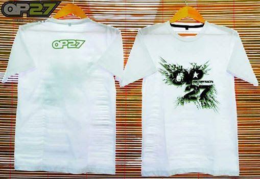 T-shirt OP27 Factory Racing TOP27-023 White  087845622777 (WA, SMS, & Telp) / D17560D1 (BBM) / op27factory (LINE)