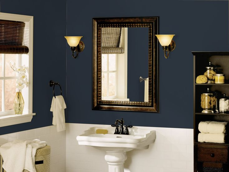 The calming hue of Dutch Boy's January Color of the Month, Coal Blue pairs brilliantly with brass fixtures, adding a luxurious vibe to any space.