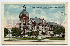 Postcard~Caddo Parish Cour House & Confederate Monument, Shreveport, LA., a19177