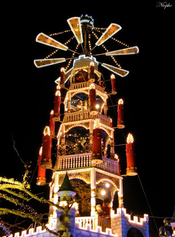 Got to go to Germany for Christmas! Kassel, Germany. I think Steiffer has one of these, too. The whole town carves wooden xmas ornaments there.