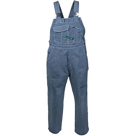 Key Clothing Men's 273 47 Hickory Striped Cotton Overalls