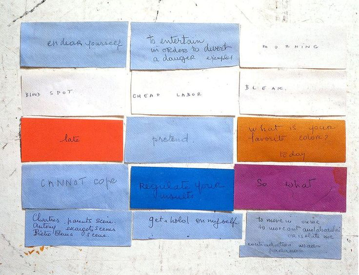 Louise's writing to herself  Louise Bourgeois, via stopping off place via Wo and Wé