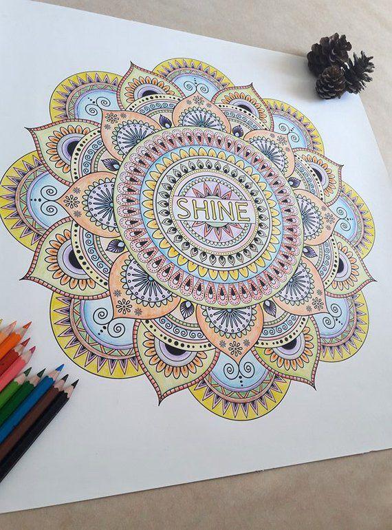 Mandala Poster Home Decor Do It Yourself Art Therapy Mandala Design