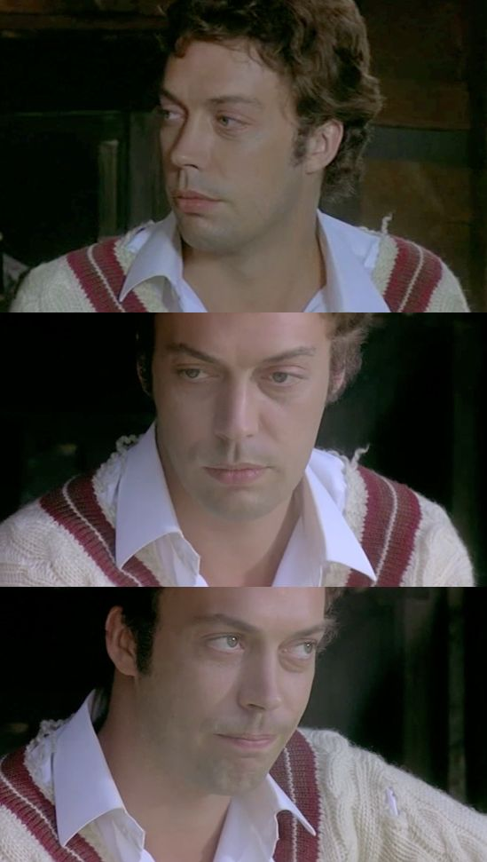 Tim Curry as the young doctor Robert Graves in The Shout (1978)