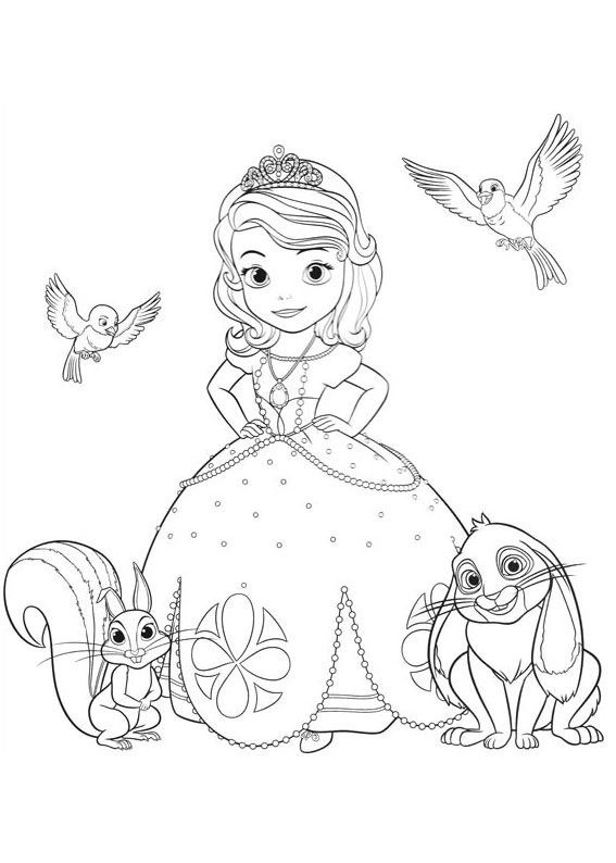 60 Disegni Di Sofia La Principessa Da Colorare Disney Princess