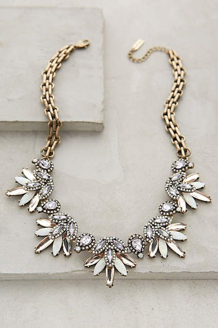 Should I get into statement necklaces?? Lavande Bib Necklace - anthropologie.com