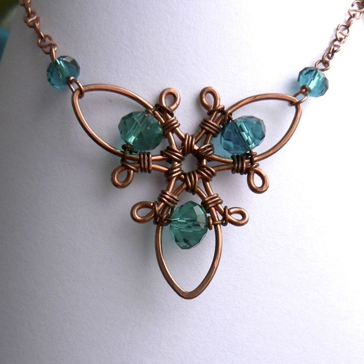 Propeller Focal Wire Wrapped Necklace   JewelryLessons.com