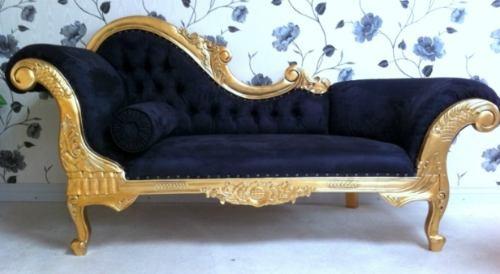Luis xv chaislongue sofa vintage estilo victoriano for Recamaras estilo luis 15