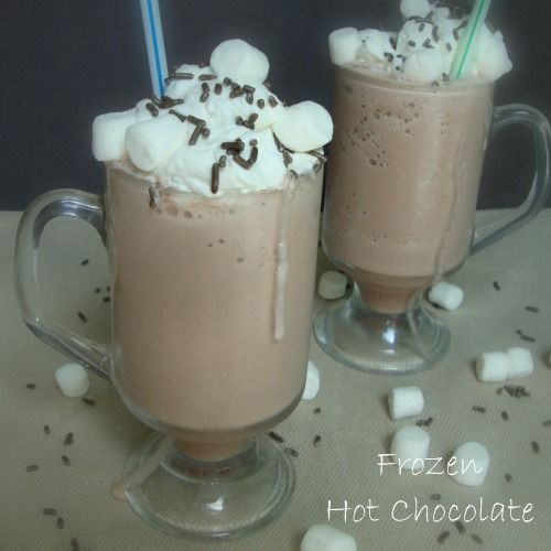 Frozen Hot Chocolate - Chocolate Chocolate and More!