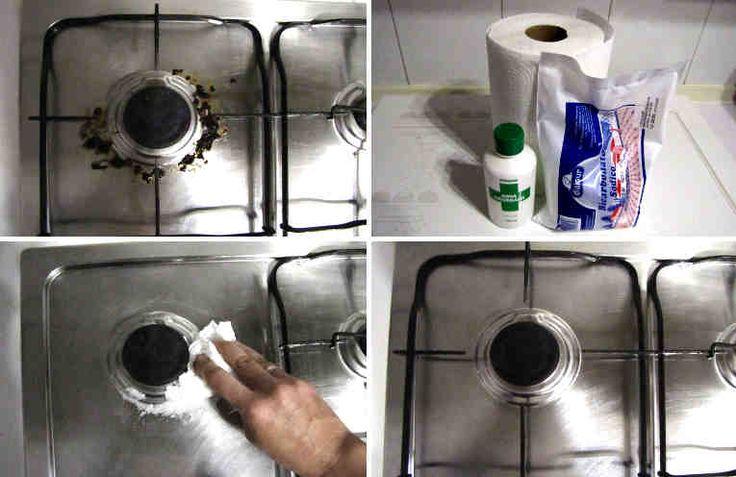 #fogones #truco #DIY #limpieza  Un truco fantástico para limpiar los fogones sin esfuerzo. Rápido y eficaz