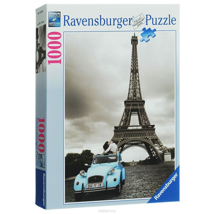 Ravensburger Романтика в Париже. Пазл, 1000 элементов