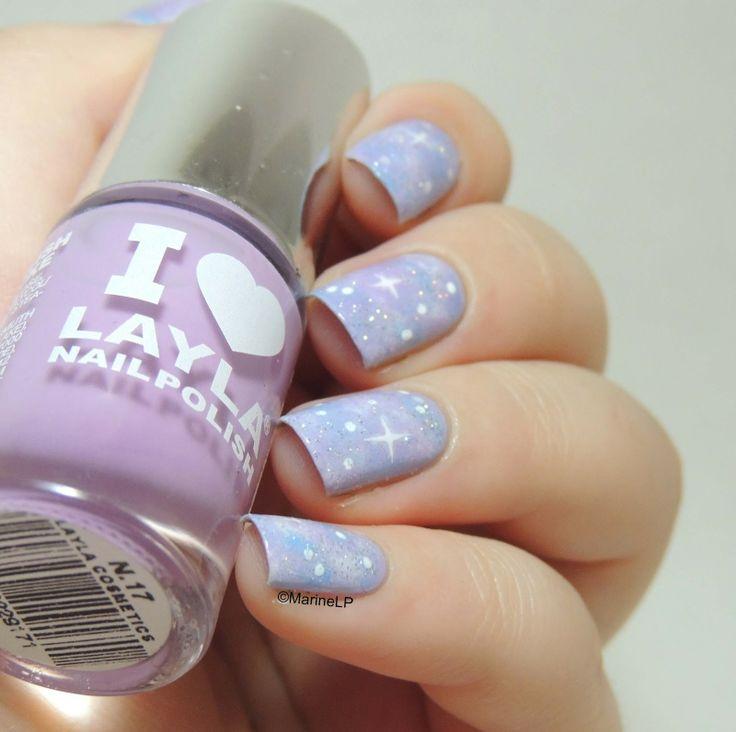 Galaxy nails - Pastel Galaxy nails - Pastels