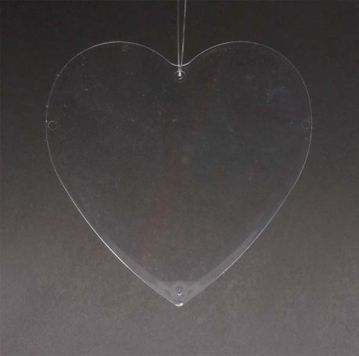 Műanyag lap - szív