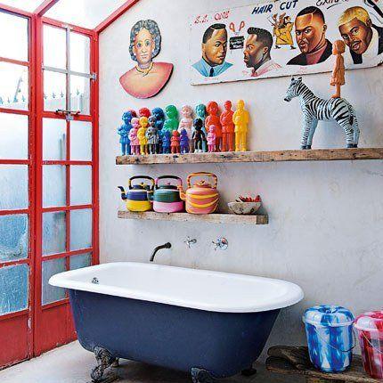 Une salle de bains originale pour enfantsModern Bathroom Design, Art Studios, Kids Bathroom, Decor Bathroom, South Africa, Bathroom Colours, De Bain, Design Bathroom, Room