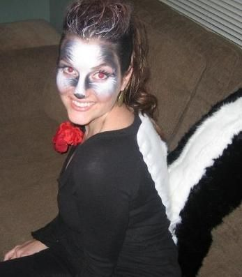 skunk costume hair - Google Search