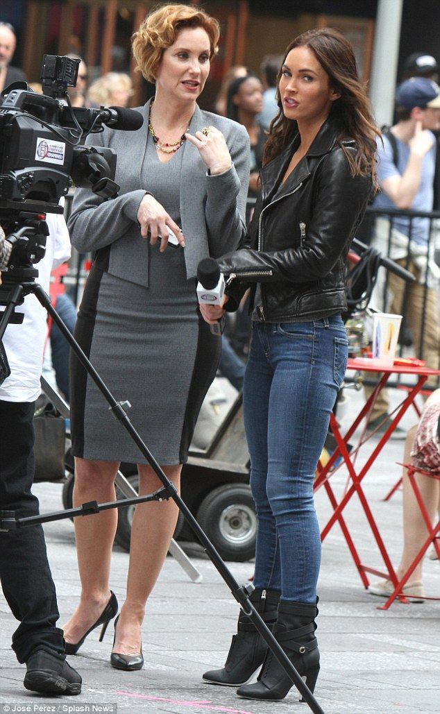 Face-to-face: Megan Fox and Judith Hoag filmed a scene for Teenage Mutant Ninja Turtles: Half Shell in NYC on Monday morning
