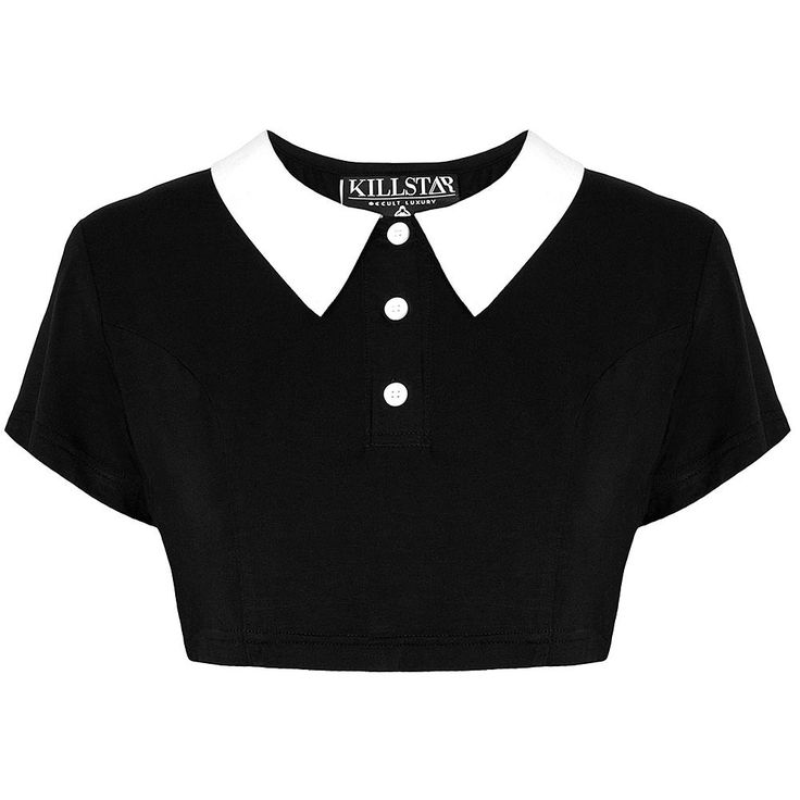 £29.99 Killstar Addams Crop Top [B] (saa myös mm. Attitude Clothingilta) (S)