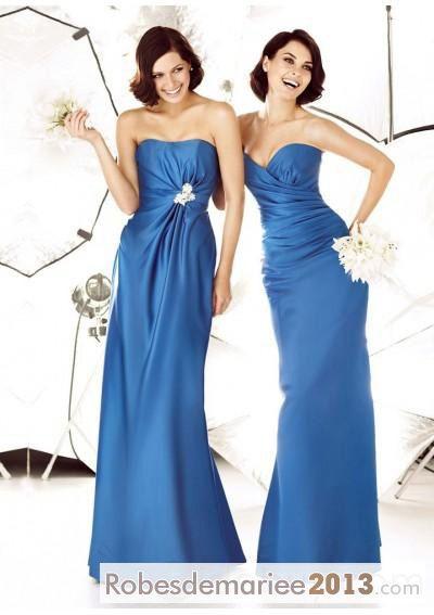 Meilleure Vente 2013 Nouvelle Robe Demoiselle d'Honneur Bustier
