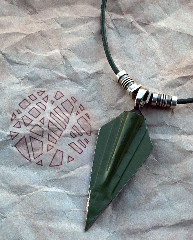 Green Arrow Necklace by curiousgood on Etsy, $25.00