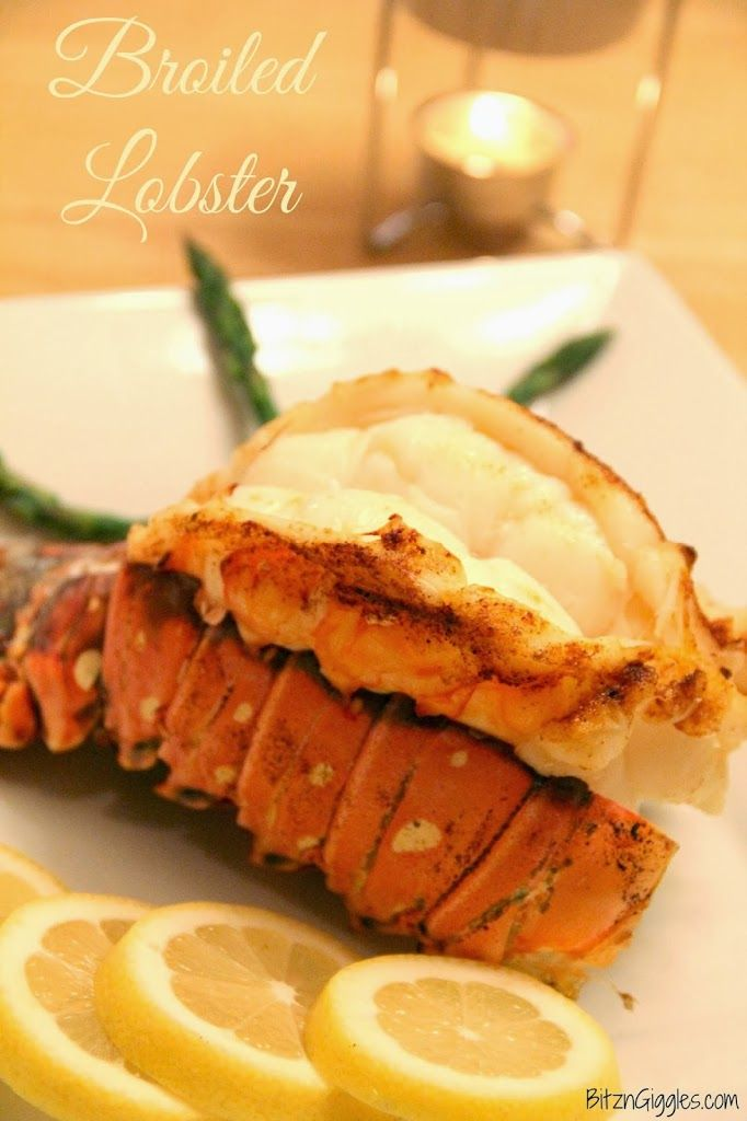 Broiled Lobster Tails - Forget going out for Valentine's Day - fix this wonderful meal right at home!