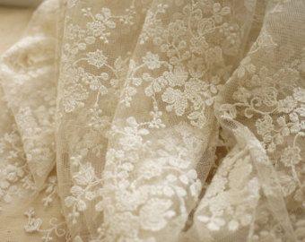 Elfenbein Spitze Kleid