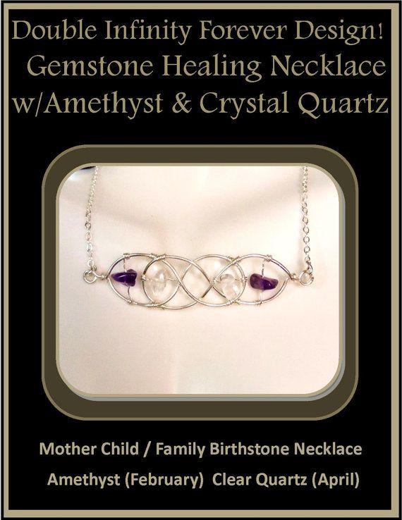 infinity jewelry,Birthstone jewelry, family birthstone jewlery, infinity necklace, mother daughter jewelry