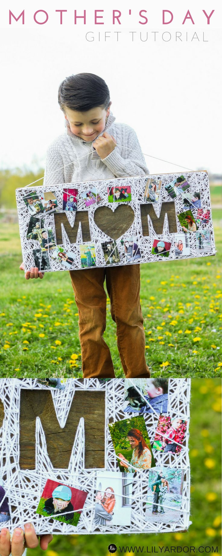 This Mother's day gift is the perfect gift for any mom!! PLUS it'll look beautiful on her wall. A picture is worth a thousand words but a gift like this will last forever! #Mothersday #gift #homemadegift #momsgift #giftidea