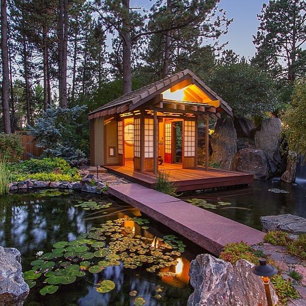 18 Relaxing Japanese Inspired Front Yard Décor Ideas: 18 Best Modern Cabin Images On Pinterest