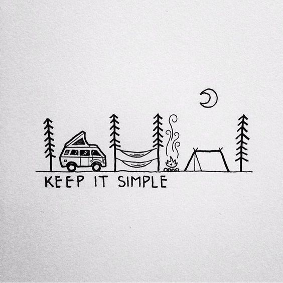 Illustration by david rollyn ourcamplife our camp for Minimalist living what to keep