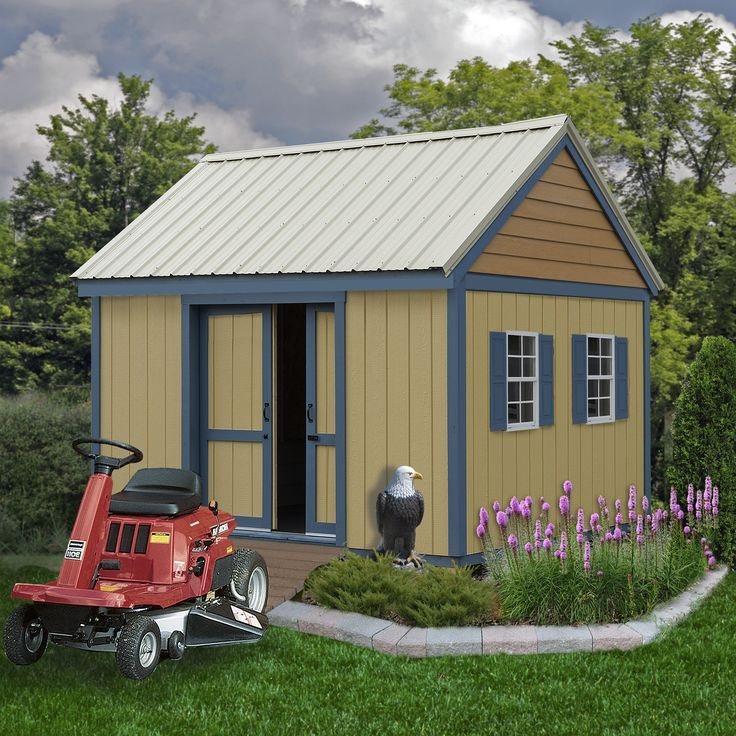 Featuring Sliding Pocket Doors And A Generous Loft Area The Brookhaven Wood  Shed Kit From Best Barns Is Perfect Storage Solution For Your Backyard.