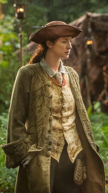 Close up of Claire's male attire for Ep114, The Search. Loving the hat! This is Terry Dresbach's fave costume of Season 1!