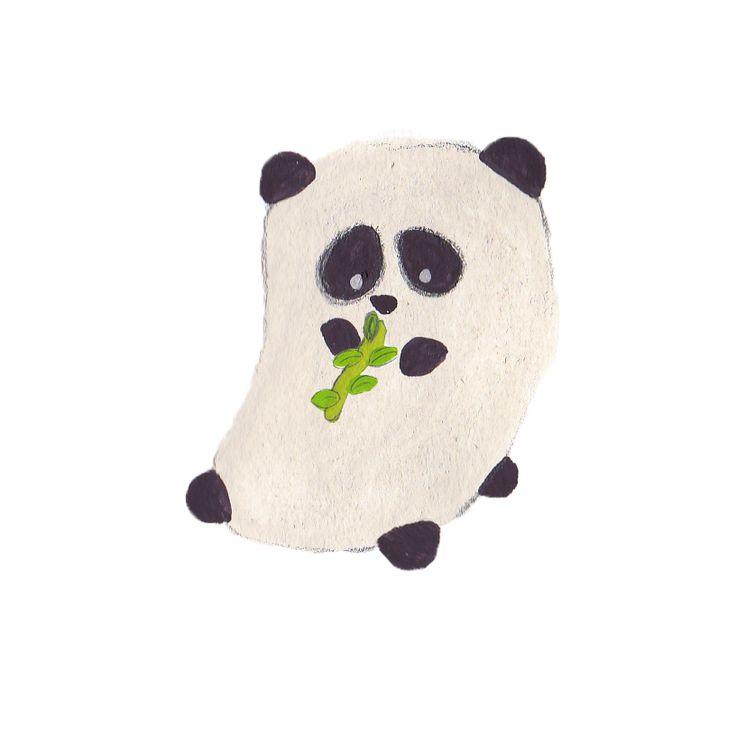 Panda eating, character for children's book #illustration #panda #eating