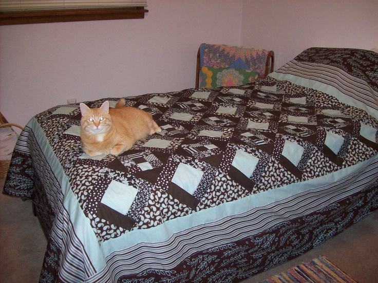 Nate and LeeAnn's (Neko thinks it's his...)...before quilting...