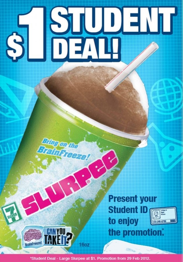 $1 Large Slurpee Student Deal @ All 7-11 Stores on www.greatdeals.co...