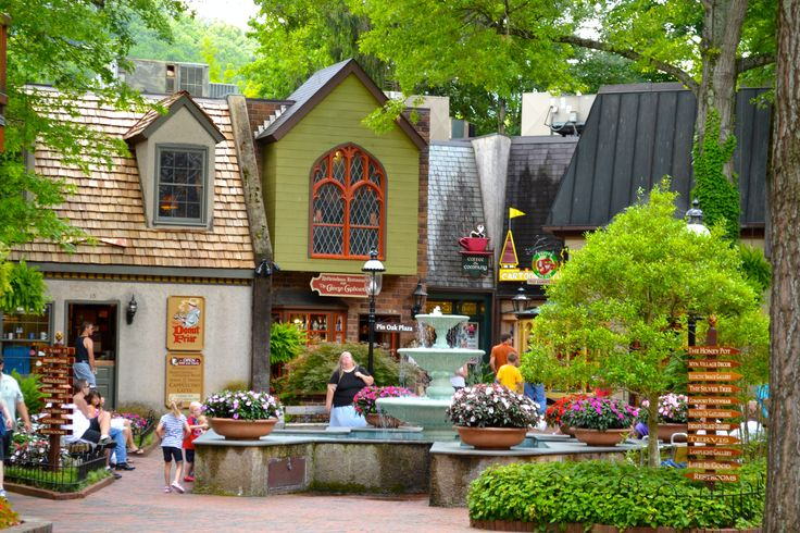 This Is The Main Fountain Area At The Village In